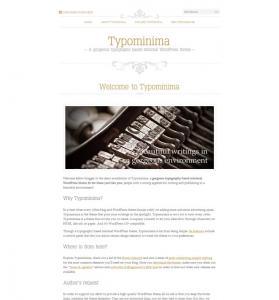 Typominima Theme